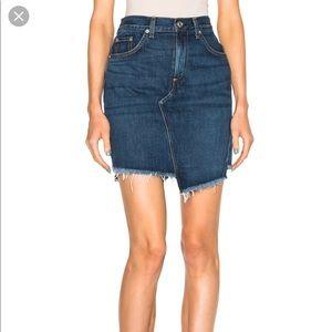 "Rag and Bone Asymmetrical denim ""Eddy"" skirt"